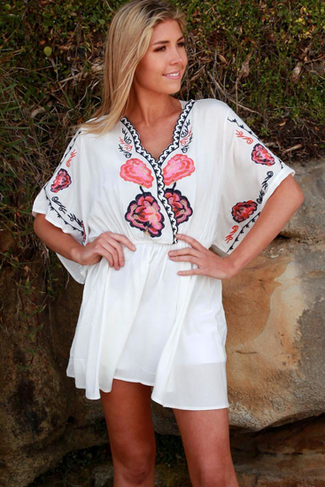 Picture of ISABELLA SUMMER ROSE TOP OSFA