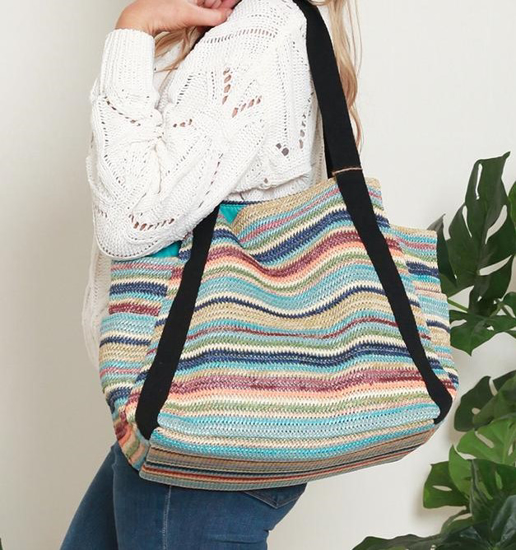 Picture of ISABELLA MULTI TOTE LARGE BLUE STRIPE