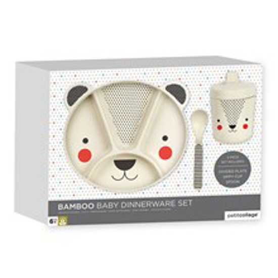 Picture of Bamboo Baby 3 pce Dinnerware Set - Bear